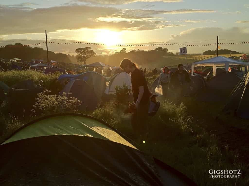 VIP Camping at DownLoad, a large festival
