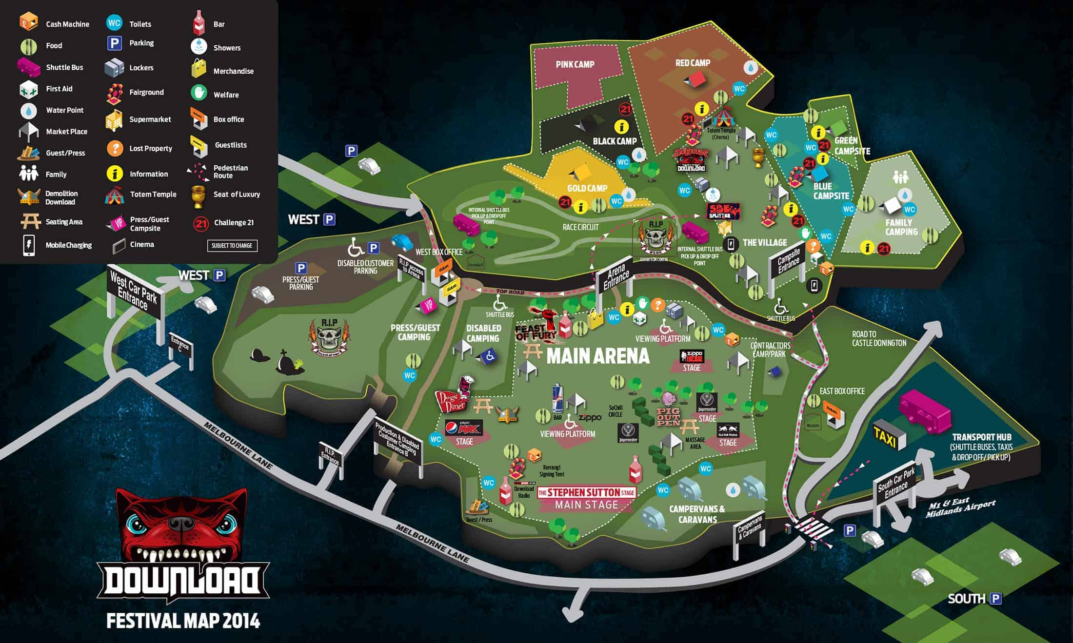 Surviving a festival is a lot about where things are and how far apart they are. Download 2012 festival site map