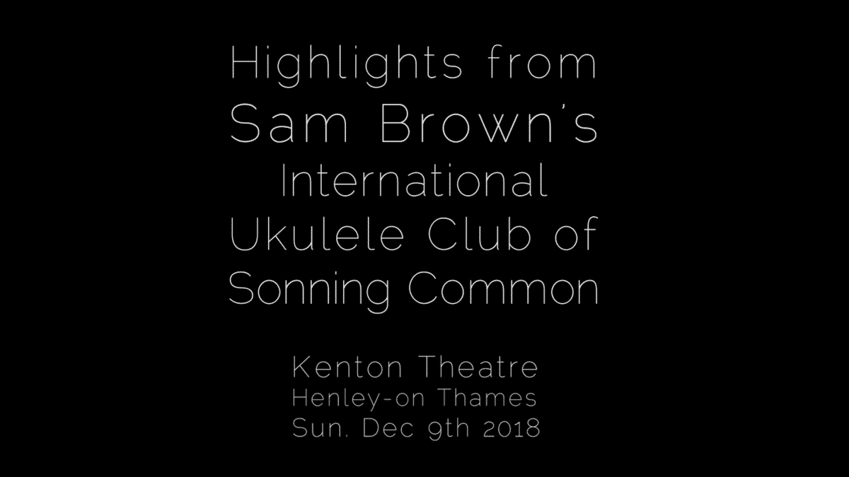 Sam Brown's ukulele club perform at the Kenton theatre