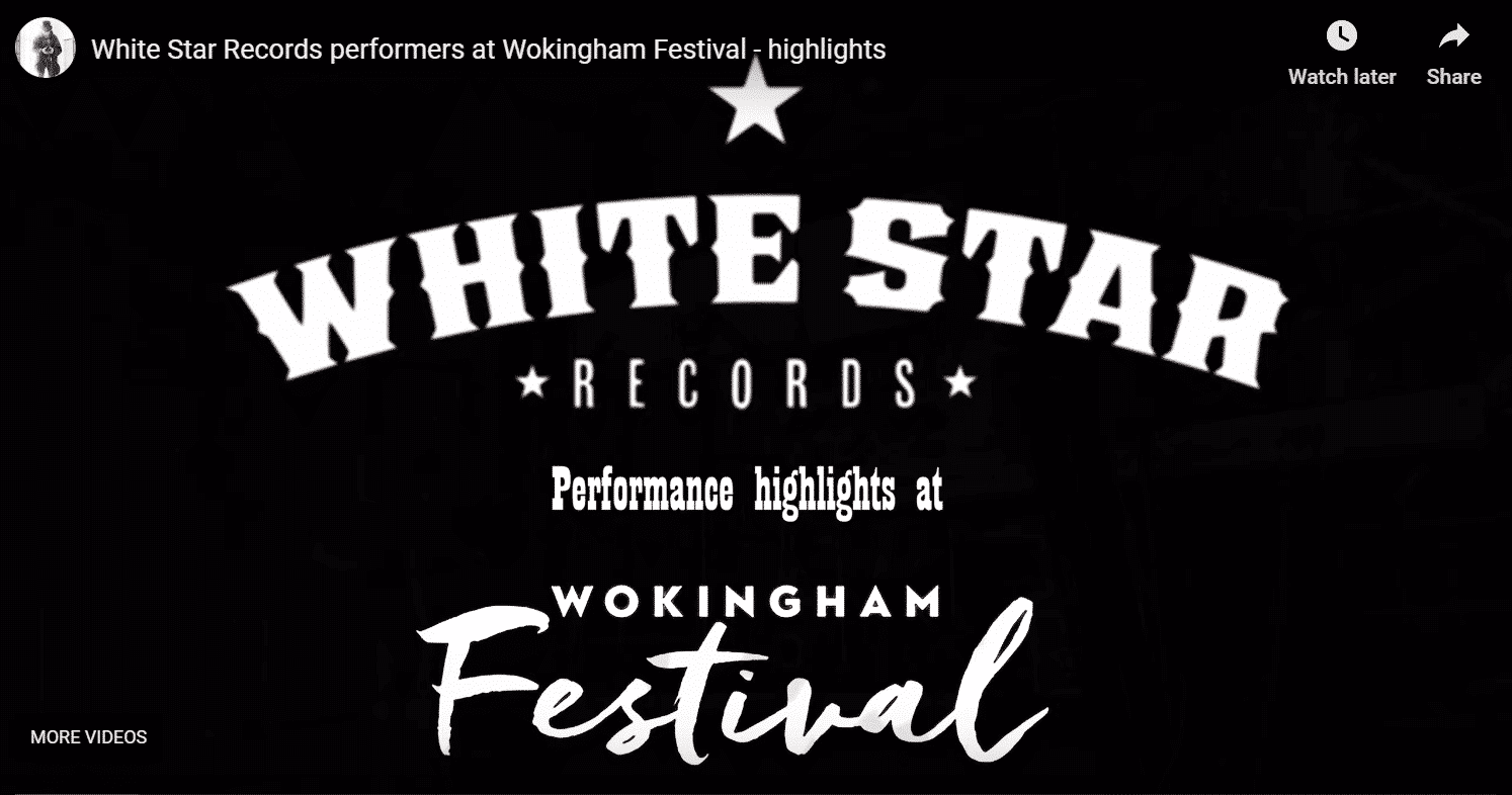 Whitestar records at wokingham festival